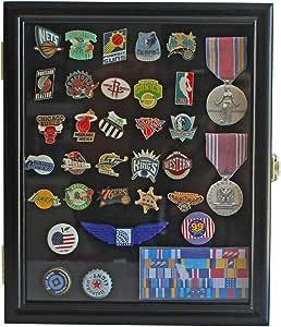 Armario vitrina caja de sombra para medallas, pines, parches, militar, insignia, lazos mpc02, Acabado negro: Amazon.es: Deportes y aire libre