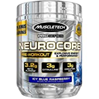 MuscleTech NeuroCore, Icy Blue Raspberry Explosive Pre Workout Powder, 36 Servings