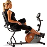 Marcy Start ME709 Recumbent Magnetic Exercise Bike, 17 Stone Capacity