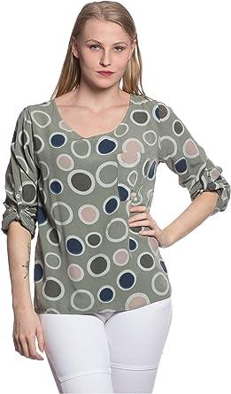 Abbino 80069 Blusa con Puntos Top para Mujer 6 Colores ...