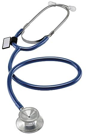 MDF Instruments Dual Head MDF74710, Estetoscopio Ligero de Doble Cabeza, Azul Real (Royal