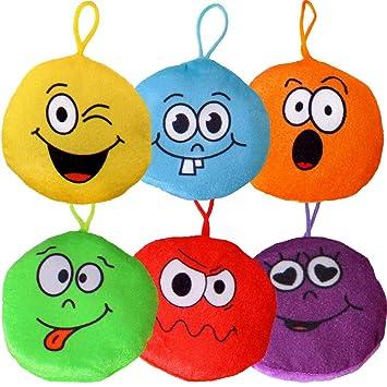 TE-Trend 6 Piezas Felpa Emoji Colgantes Cumpleaños ...