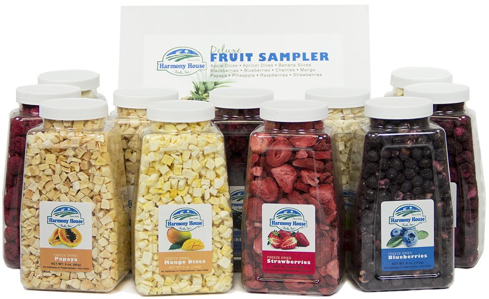 Harmony House Foods Deluxe Fruit Sampler (Quart Size Jars, 12 Count)