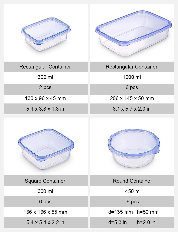 Certificado LFGB Conjunto Apilable de 20 Piezas Tama/ño Diverso Apta para Lavavajillas y Microondas Sin BPA Deik Tupperware Set de Recipientes para Alimentos con Tapa