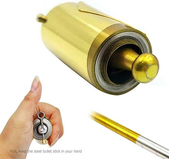 Portable magique personnel de poche acier m/étal en plein air sport baguette magique jouets en or