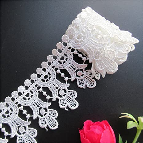 3 Meters Vintage Embroidered Lace Edge Trim Ribbon Wedding Applique Sewing Craft