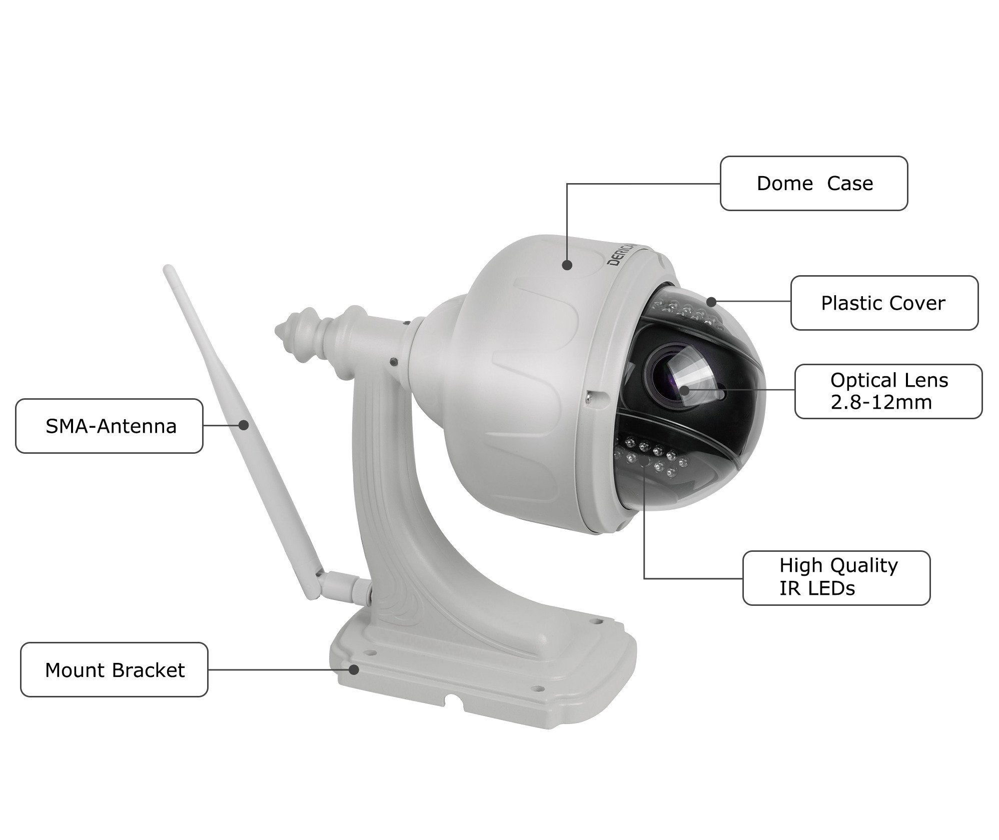 Dericam Outdoor Wifi Wireless Ip Security Camera Ptz