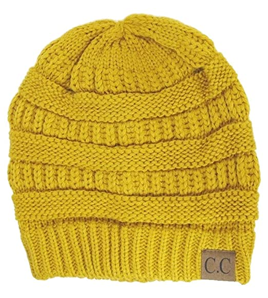 C.C Women s Thick Soft Knit Beanie Cap Hat 35f81bf9235