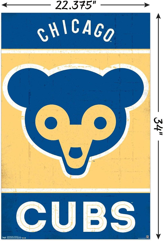 Trends International Chicago Bears Retro Logo Wall Poster 22.375 x 34