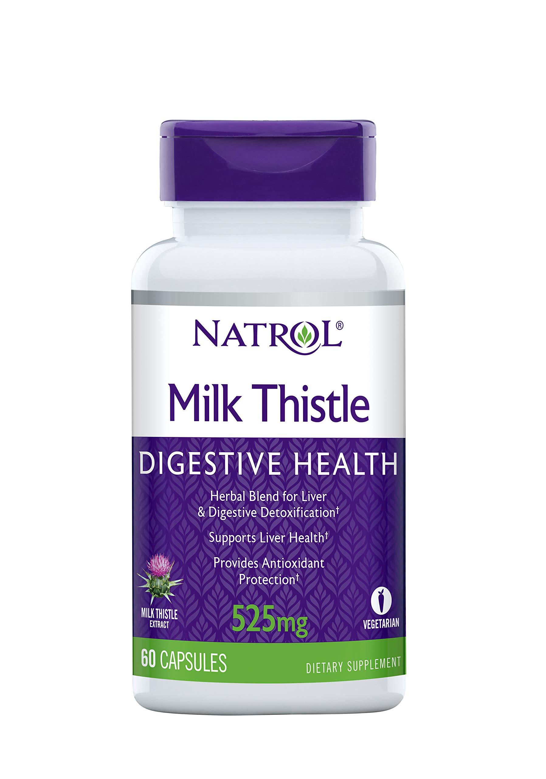 Natrol Milk Thistle Advantage V-Caps, 525mg, Unflavored, 60 Count
