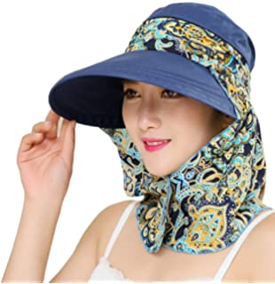 Roll Up Wide Brim Sun Visor UPF 50+ UV Protection Sun Hat with Neck  Protector a3a1aedf3031