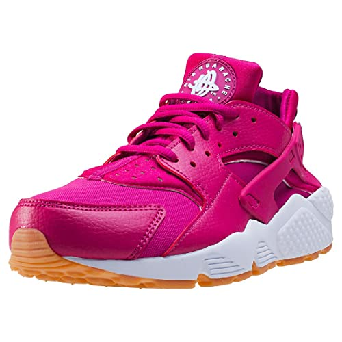 more photos 6bf2d f4962 Nike 634835-606 Women AIR Huarache Run Sport Fuchsia White Gum Yellow   Amazon.in  Shoes   Handbags