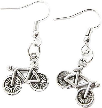 GiftJewelryShop Bronze Retro Style Just Married Photo Stud Heart Earrings #12