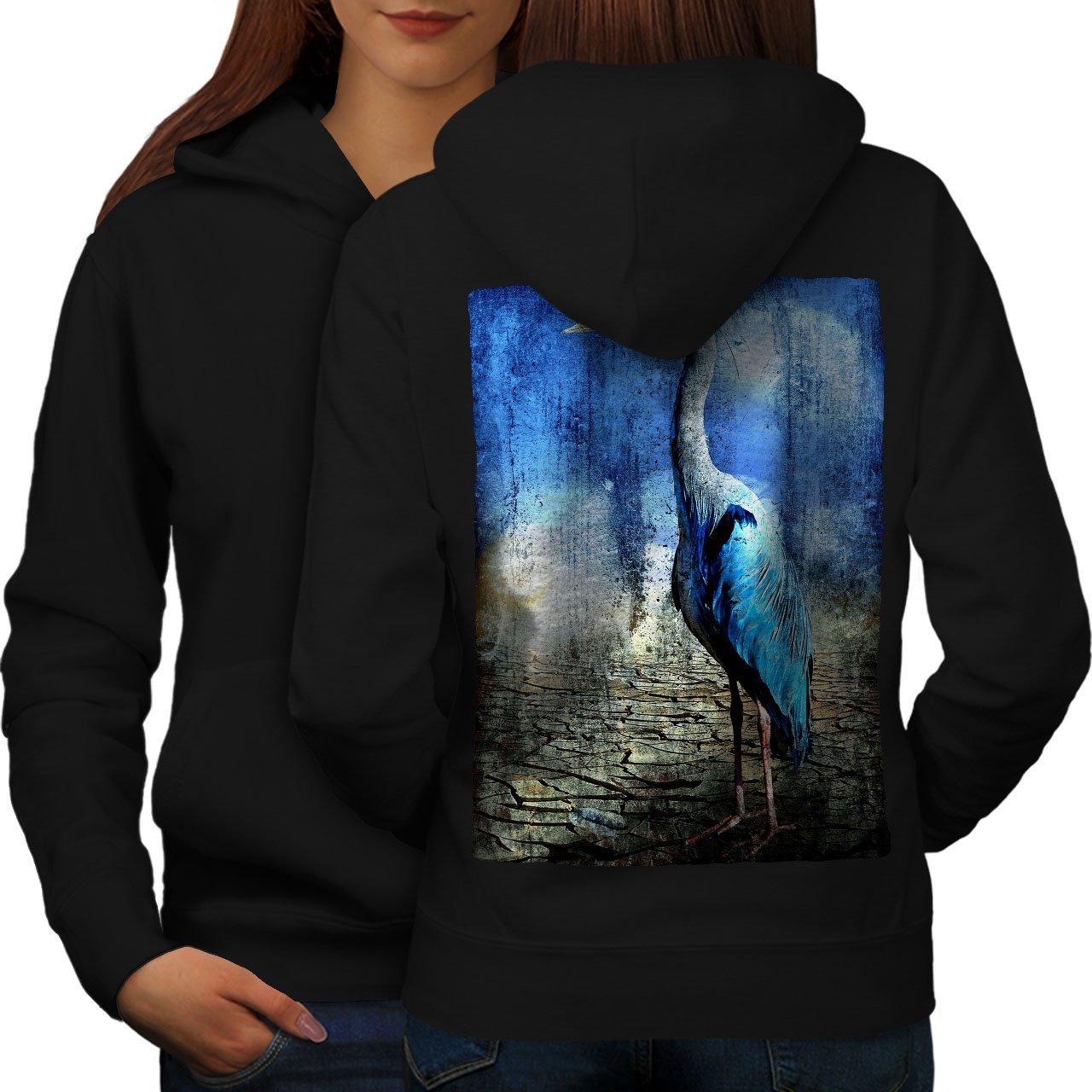 Cute Print on The Jumpers Back wellcoda Bird Wild Desert Animal Womens Hoodie