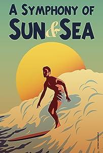 Toland Home Garden Surf Sun Sea 28 x 40 Inch Decorative Vintage Summer Surfing Ocean Wave House Flag