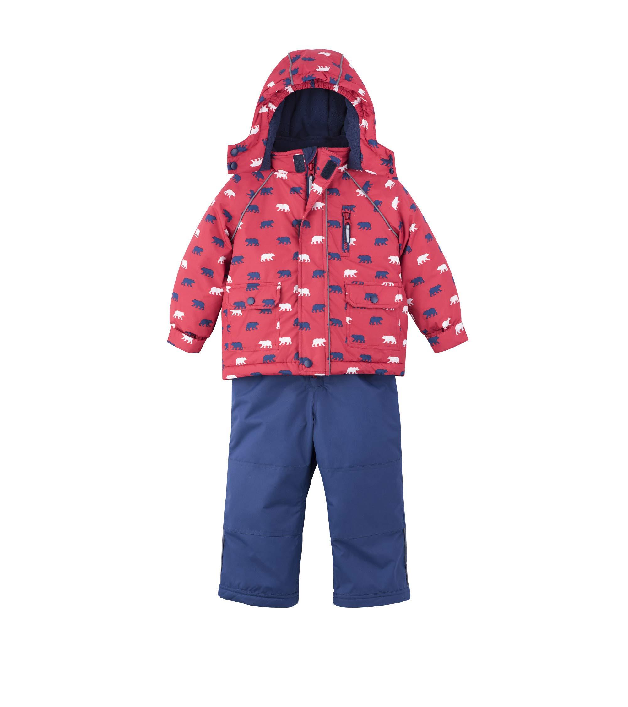 Hatley Boys' Toddler Snow Suit Set, Polar Bear 5 Years