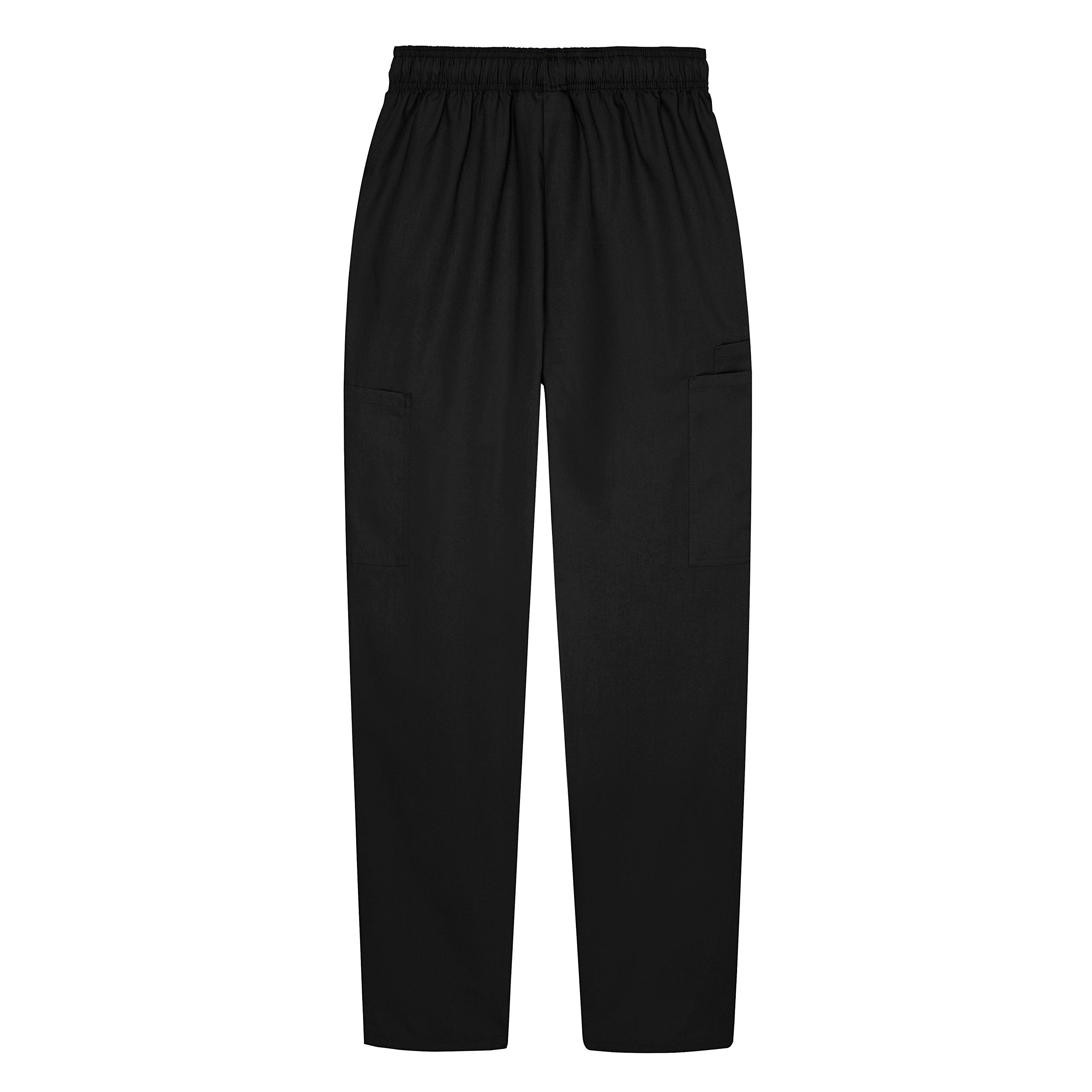 Sivvan Women's Scrubs Drawstring Cargo Pants (Available in 12 Colors) - S8200 - Black - 2X by Sivvan (Image #2)