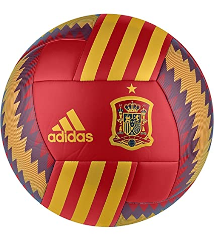 Balón España 2017-2018 Red-Gold-Tri blue Talla 4: Amazon.es ...
