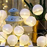 AndThere Guirnalda Luces LED Bolas de Algodón Luces de Hadas 20 LEDs 3M Guirnalda Hada de Luces Operado con Pilas Bola…