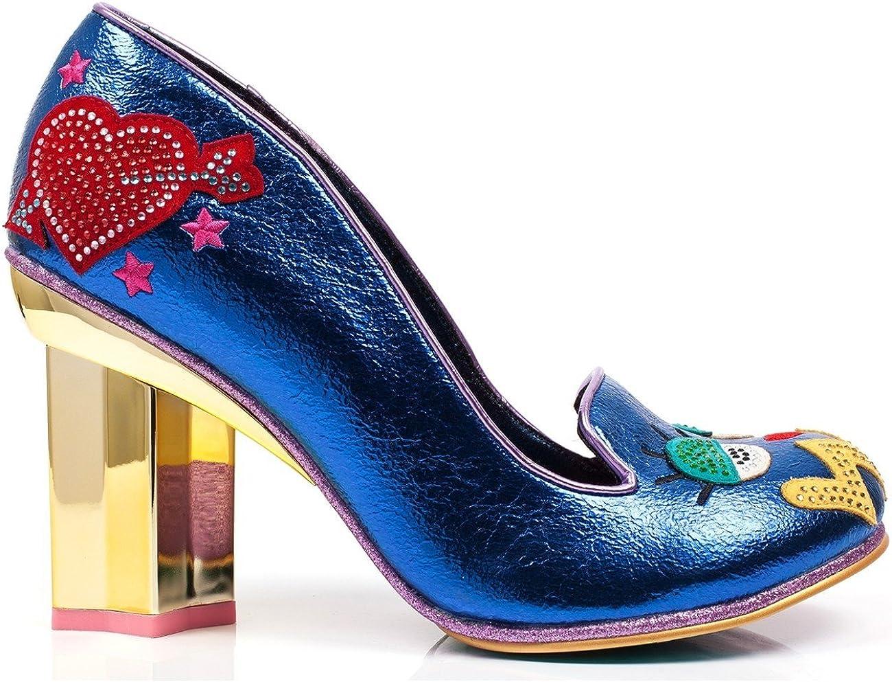 Blue Irregular Choice Tip Toe Star Heel Pump
