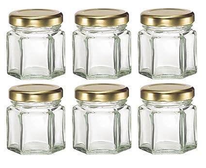 Amazon Nakpunar 6 Pcs 15 Oz Mini Hexagon Glass Jars For Jam