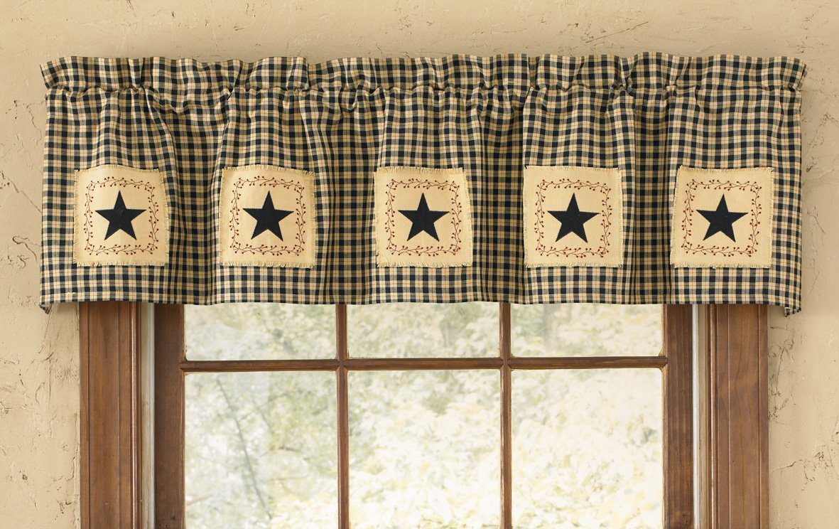 Park Designs Star Patch Lined Valance, 60 X 14-Inch 309-47