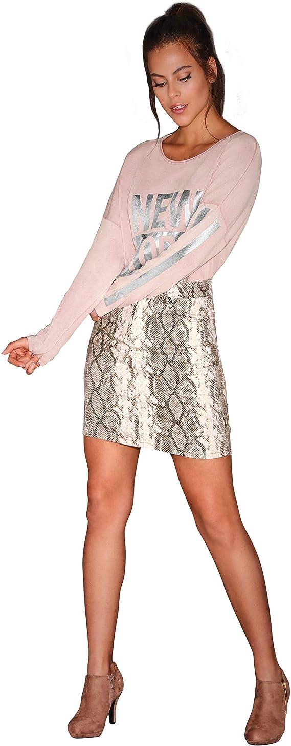 Falda Animal Print Serpiente Mujer - 031738: Amazon.es: Ropa y ...