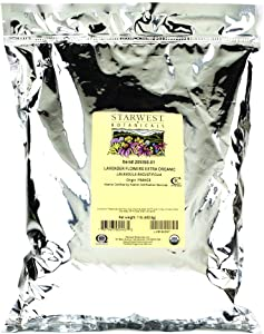 Starwest Botanicals Organic Dried Lavender Flowers Extra Grade, 1 Pound (Pack of 2)