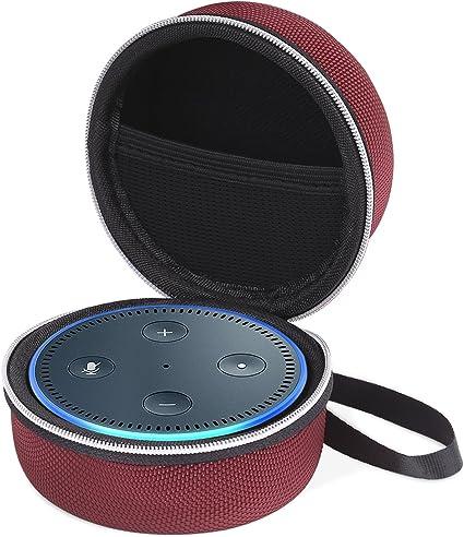 MoKo Amazon Echo Dot Funda - Portátil Cubierta / Estuche del Altavoz Bluetooth Cover Case con Cremallera / Correa