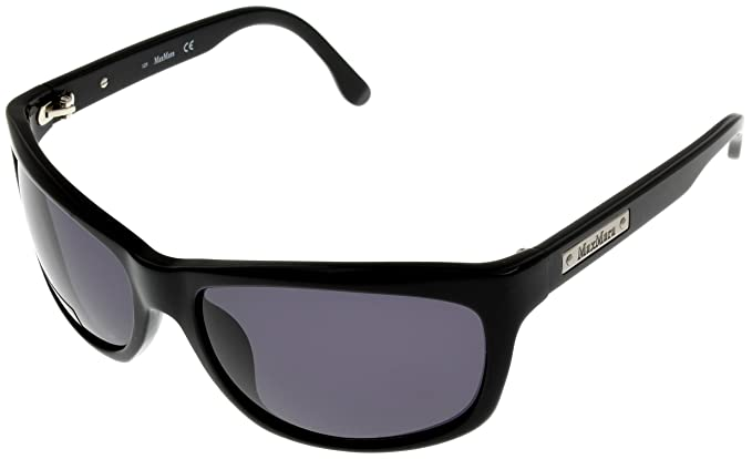 Amazon.com: Max Mara Sunglasses Unisex Rectangular Black MM ...