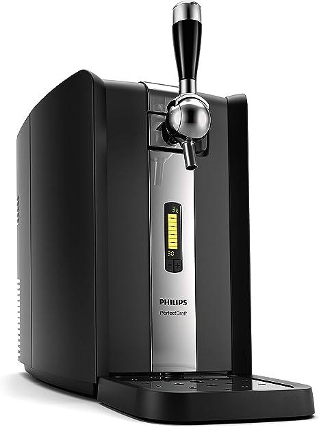 Philips HD3720/25 - Dispensador de Cerveza de Barril, 6 L, Pantalla LCD con Indicador Temperatura, Hasta 30 Dias de Cerveza Fresca, Color Negro: Amazon.es: Hogar