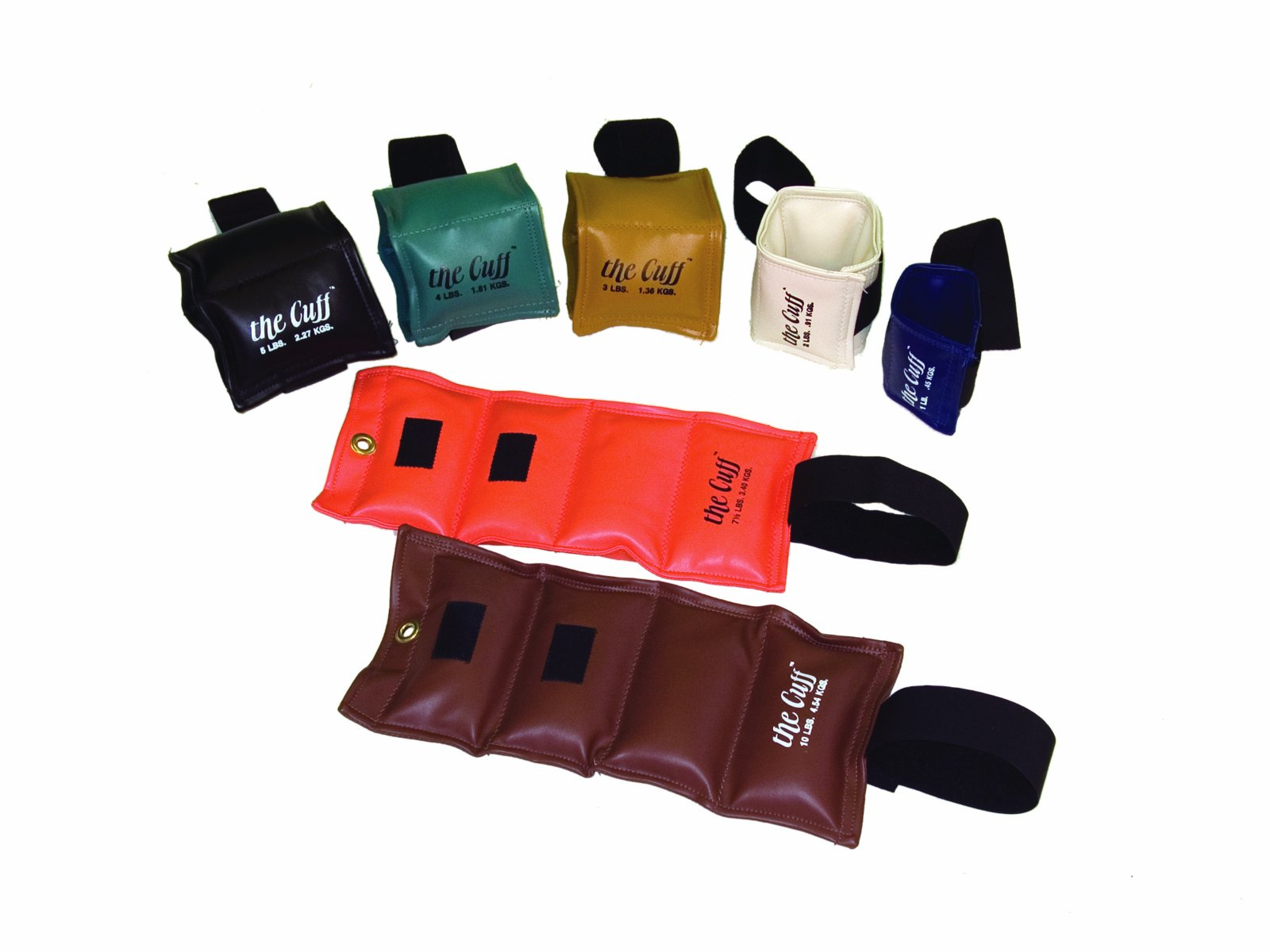 Cuff Rehabilitation Ankle And Wrist Weight 7 Piece Set - 1 Ea. 1, 2, 3, 4, 5, 7.5, 10 by the Cuff_ by The Cuff