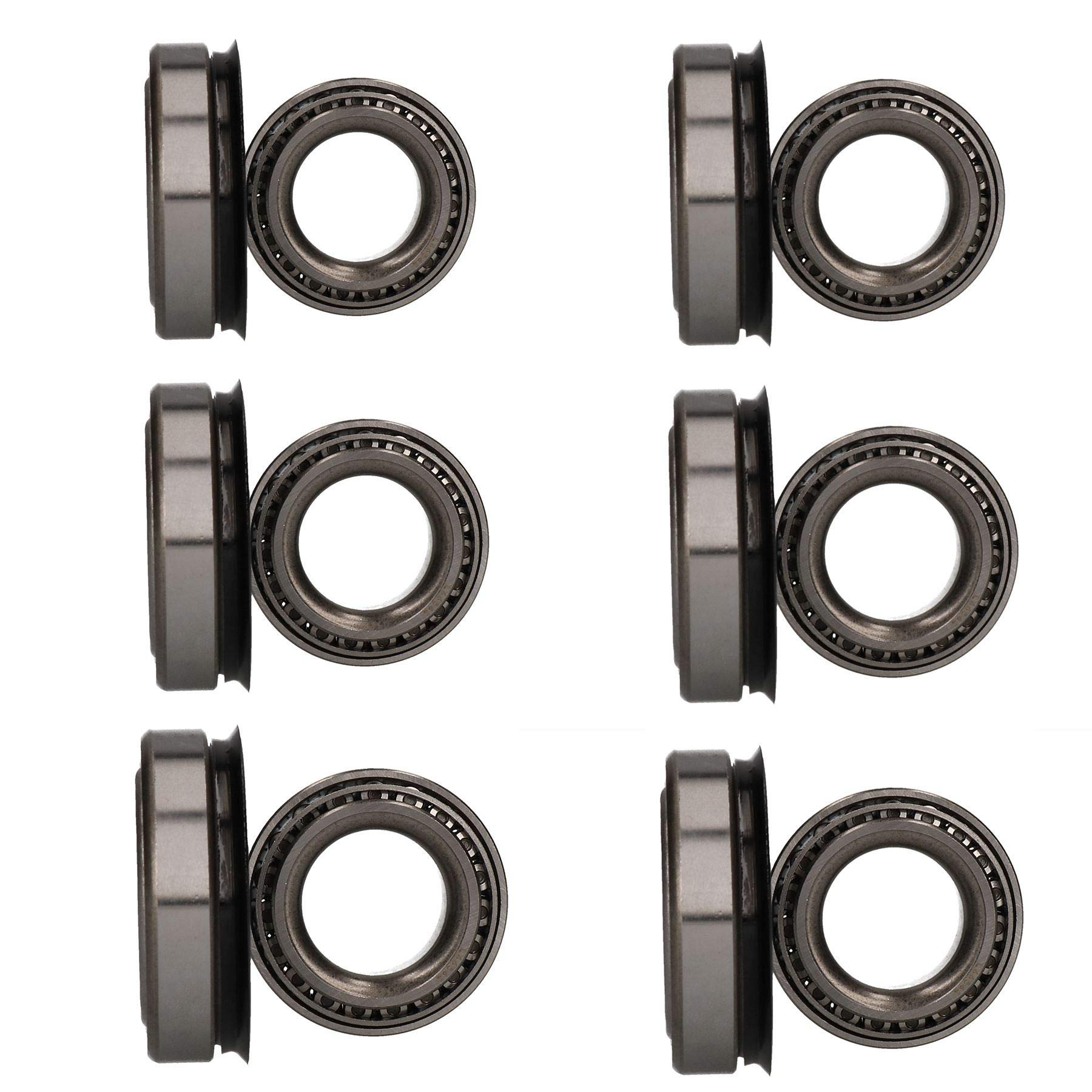 AB Tools 6 x Wheel Bearing Kit for Indespension 3500kg Tri-Axle Car Transporter Trailer by AB Tools