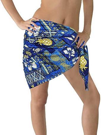 LA LEELA Likre Hawaii Costume da Bagno delle Donne Avvolgere Sarong Stampato Un