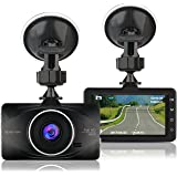 APEMAN Telecamera per Auto Dash Cam 1080P Full HD Auto Video Recorder Obiettivo Grandangolare di 170 Gradi con Lente con Rilevatore 3 Pollici HD Display di Movimento G-Sensor