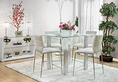 Furniture of America Dining Table, Silver