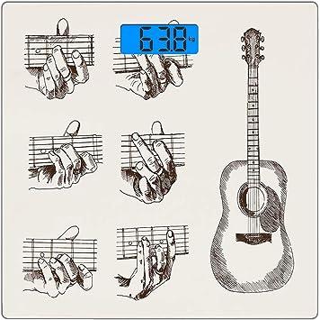 Escala digital de peso corporal de precisión Square Guitarra ...