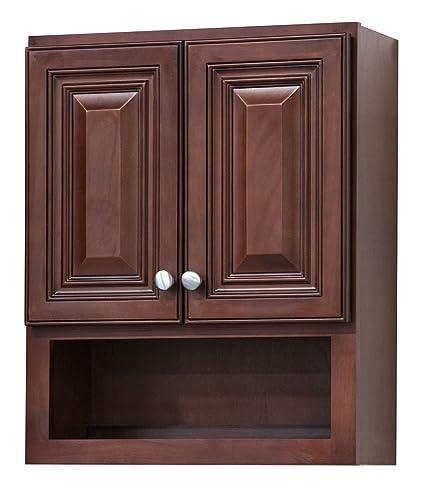 amazon com jd cherry bathroom wall cabinet kitchen dining rh amazon com bathroom wall cabinets dark cherry bathroom wall cabinets cherry wood