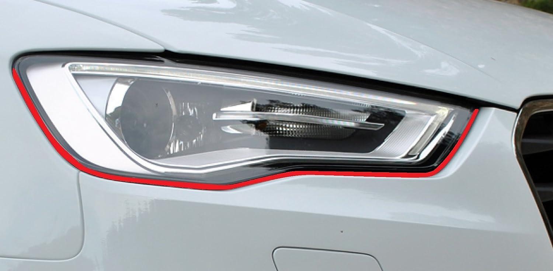 Devil Teufel Scheinwerfer Aufkleber Stripes Eye in rot, passend fü r Ihr Fahrzeug StickandShine