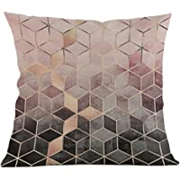 OVERMAL Pillow Case Geometric Printing Cover Cotton Linen Square Decorative Cushion Covers For Sofa