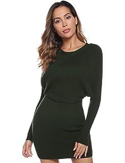 Yidarton Womens Jumper Dress Knitted Dress Sweater Dress