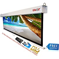 Elcor Manual Pull Down Projector Screens 100 Inch-Diagonal, 5ft.Height x 7ft.width In 4:03 Aspect Ratio