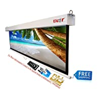 "ELCOR Manual Pull Down Projector Screens 4ft.x 6ft.-84"" Diagonal In 4:03 Aspect Ratio"