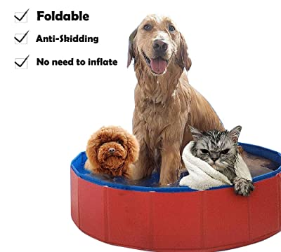 Lumcrissy Foldable Portable Dog Pet Bath Pool,Swimming Pool Bathing Tub