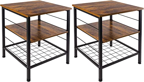 Industrial End Table