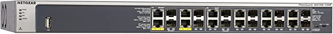 Amazon.com: NETGEAR 12-Port Gigabit Ethernet Fully Managed PoE Switch (GSM7212F) - with 4 x PoE+ @ 150W, 12 x 1G SFP (shared), Desktop/Rackmount, and ProSAFE Limited Lifetime Protection, M4100 Series: Computers & Accessories