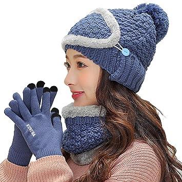 Frauen Häkeln Mütze Schal Und Handschuh Maske Amazonde Elektronik