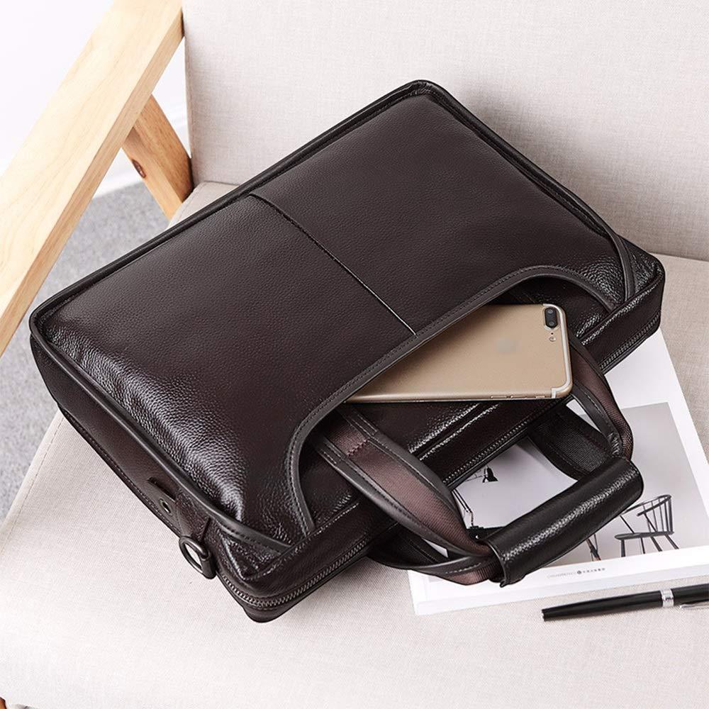 35x26x9cm Briefcase Color : Black GLJJQMY Mens Business Briefcase Mens Handbag Shoulder Bag Messenger Bag Casual Backpack Tide Bag