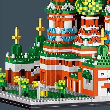 Cattedrale di Saint bazzane Russia luoghi Mattoni Blocchi di Costruzione Giocattolo