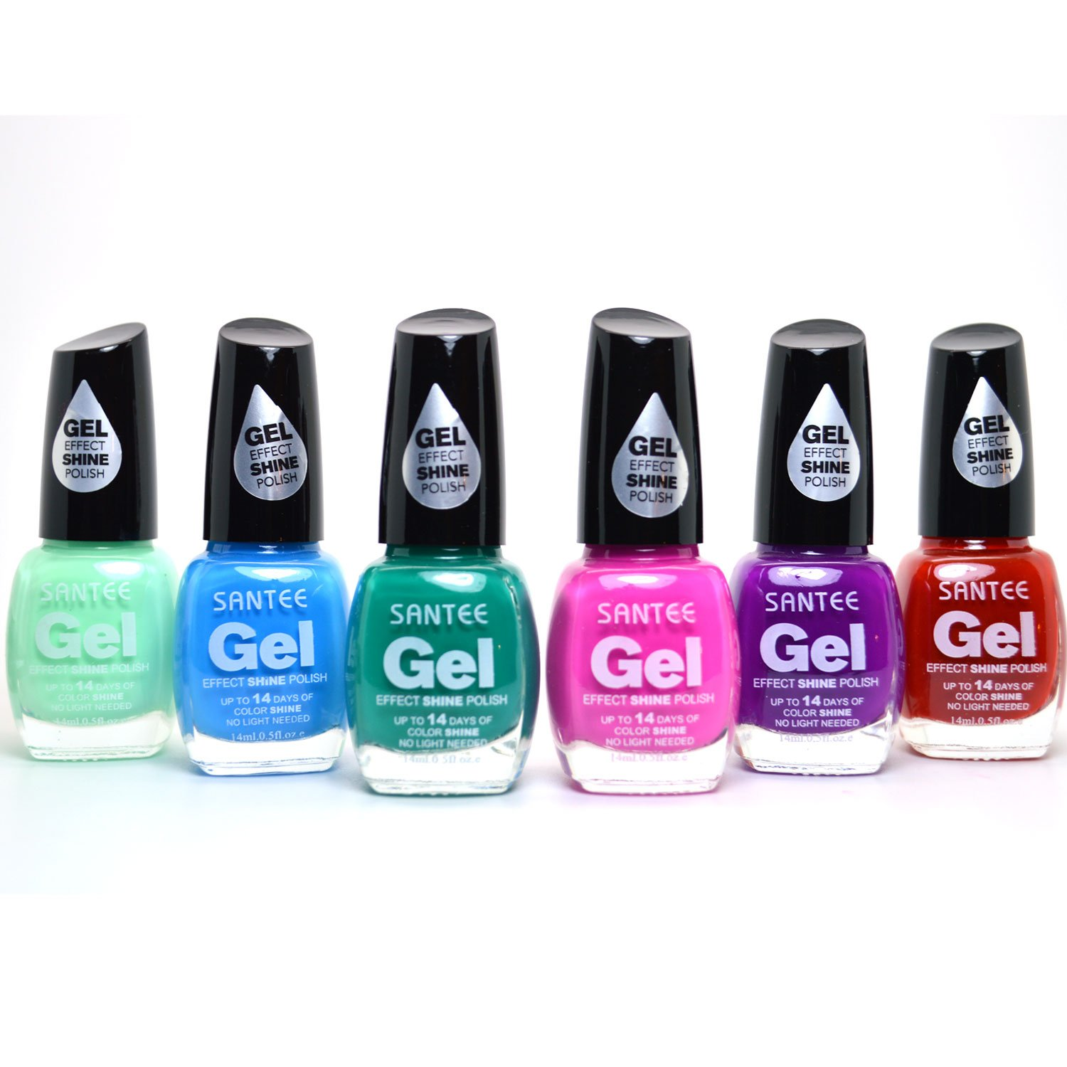 Amazon.com : SANTEE 6 GEL EFFECT SHINE NAIL POLISH NO UV/LED LIGHT ...